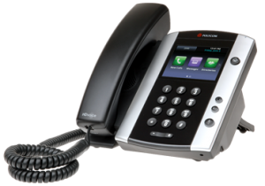 "The Polycom VVX 500 is an example of a ""hard"" IP phone"